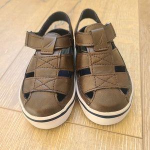 Nautica Mikkel Brown Toddler Sandals